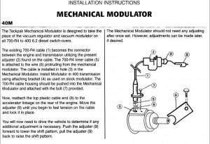 modulator mekanisk 40M
